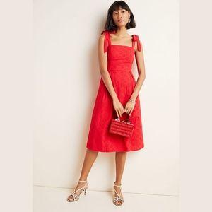 Anthropologie Hutch Red Kari Eyelet Midi Dress